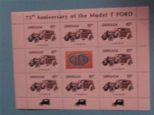 Grenada - 1189, MNH Sheet of 8, 1933 Delage D8 Auto