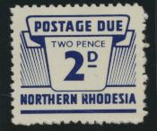 Northern Rhodesia  SG D6 SC# J6 MNH Postage Due 1963 - see details
