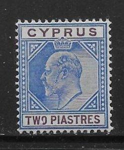 Cyprus 41 2pi King Edward VII single MLH