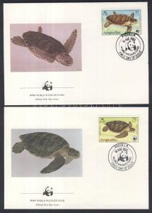 Anguilla stamp WWF: Turtles set 4 pieces on FDC 1983 Cover WS100165