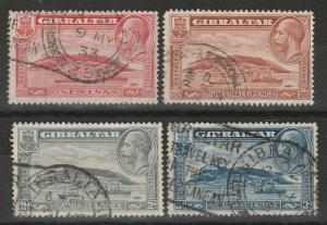 GIBRALTAR 1931 KGV THE ROCK SET PERF 13.5 X 14 USED