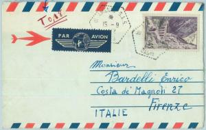 67638 - ALGERIA - Postal History - AEROGRAMME to ITALY Taxed in AMENAS SAS 1962