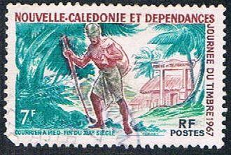 New Caledonia 356 Used 19th century mailman  (BP4618)