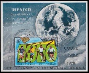 Chad MNH S/S 313 World Championship Soccer 1970