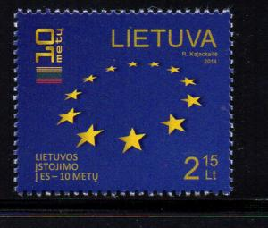 Lithuania Sc 1024 2014 European Union stamp mint NH