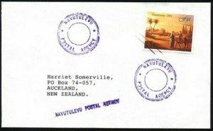 FIJI 1991 cover NAVUTULEVU POSTAL AGENCY 2 different cancels...............95524