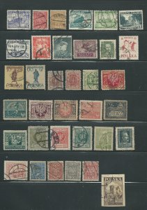 Poland Collection of 35 Used Stamps