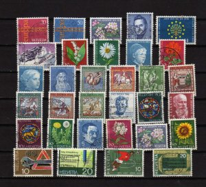 Lot Collection Switzerland Stamps Some Better