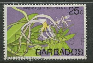 Barbados -Scott 405 -  Flowers Issue - 1974-77 - FU - Single 25c Stamps