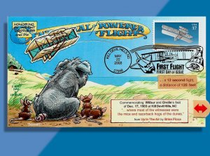 Wright Flyer Clunkily Works on 3783 FDC for Wright Bros. Centennial