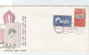 pakistan  worlds fair fdc   stamps cover ref r16231