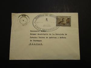 Ecuador 1950s Equator Cover / Light Creases (I) - Z3695