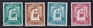 Abu Dhabi # 38-41, Sheik Zaid, Hinged, 1/3 Cat