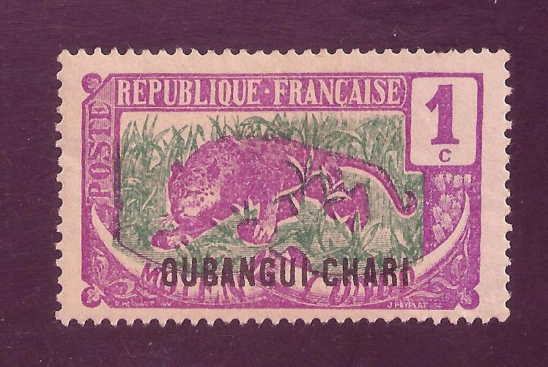 Ubangi-Shari #23 VF MINT - 1922 1c Leopard