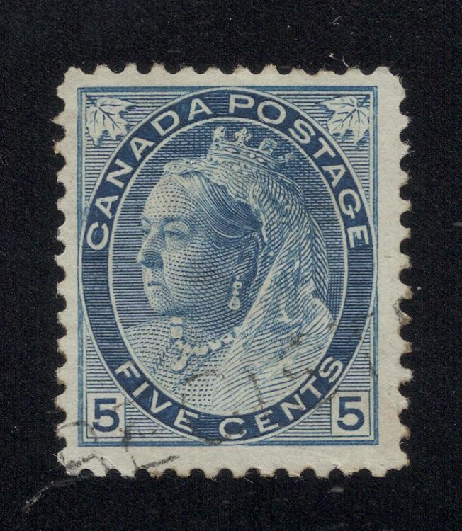 Canada #79 Blue - Light Cancel