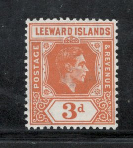 Leeward Islands 1942 King George VI 3p Scott # 109 MH