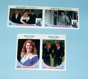 Tuvalu-Niutao - 51-52, MNH Imperf Set. Royal Wedding