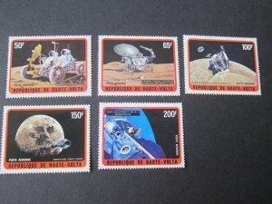 Burkina Faso 1973 Sc C135-9 space set MH