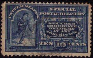 US Sc #E2 Messenger Running Blue Used F-VF Cat. $40.00