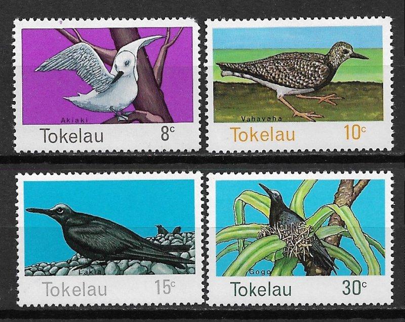 Tokelau Island MNH 57-60 Birds Of Tokelau 1977