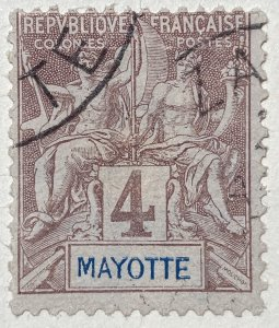 AlexStamps MAYOTTE #3 FVF Used