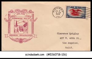 UNITED STATES USA 1939 US AIRMAIL Experimental Pick-up RIDGWAY FFC