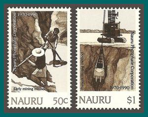 Nauru 1990 Phosphate Corporation, MNH #368-369,SG383-SG384