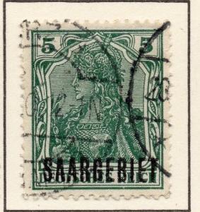 Germany Saar 1920 (Apr) Issue Fine Used 5pf. Optd 116755