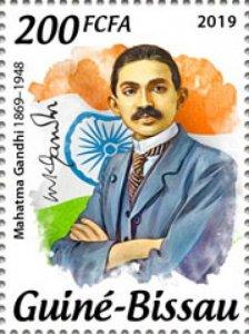 GUINEA BISSAU - 2019 - Mahatma Gandhi, 150th Birth Anniv-Perf Single Stamp-M N H