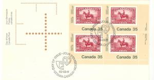 Canada  RCMP plate block First Day cover
