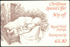 Great Britain #1088a (Booklet 770), Unexploded Booklet, 1984, Never Hinged