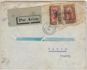 Afrique occidentale française  AOF  POSTAL HISTORY: AIRMAIL COVER to ITALY 1934