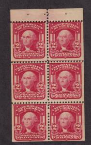 319g Booklet Pane F-VF OG mint never hinged with nice color cv $ 240 ! see pic !