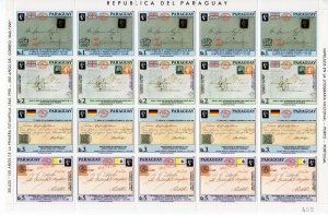 Paraguay 1990 150th.Annv.First Stamp Shlt (20) mnh Sc # 2328