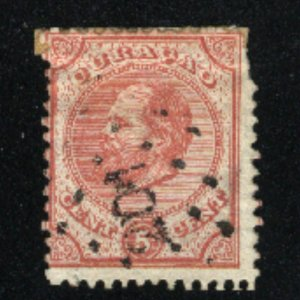 Curacao #3 used 1873  PD CV $12.00