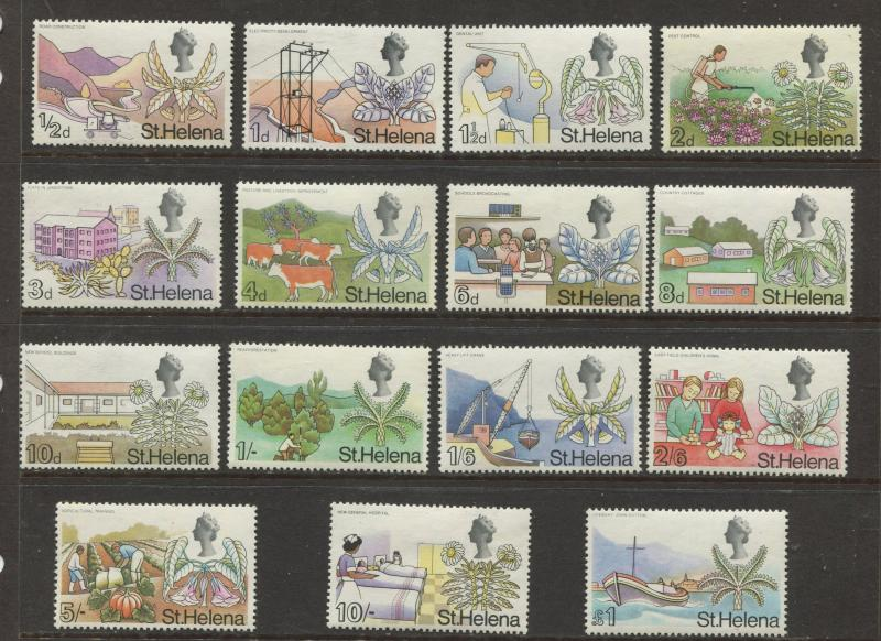 St.Helena - Scott 209-223 - Definitive Issue -1968 - MVLH - Set of 15 Stamps