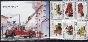 Cambodia 1604-10 Fire Trucks Mint NH