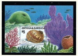 Antigua 947 MNH 1986 Seashells S/S       (KA)