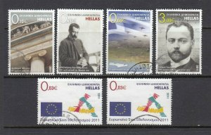 Greece #2471-76 Euros Commemoratives SET (Used) cv$15.60
