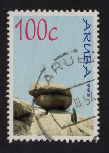 Aruba   #91  1993   used   rock formations   100c