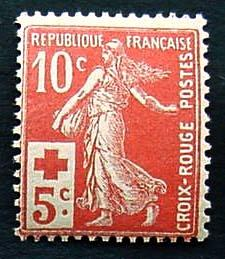 France, Scott B2, Mint Never Hinged
