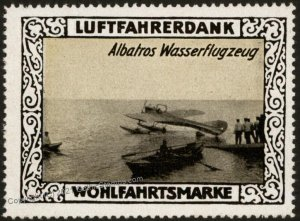 Germany WWI  Albatross Waterplane Air Force Memorial Luftfahrerdank Flig G102810