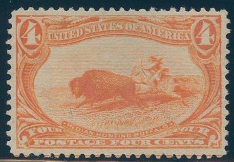 US Scott #287 Mint, VF/XF, Extra Light Hinge