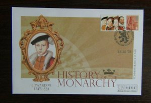 Great Britain 2008 History of the Monarchy Edward VI Cover