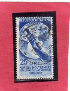 ITALIA REPUBBLICA ITALY REPUBLIC 1952 MOSTRA D´OLTREMARE E LAVORO ITALIANO A...