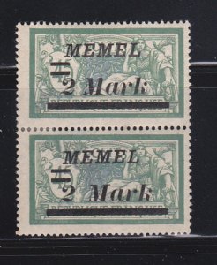 Memel 72 Pair MHR Surcharges
