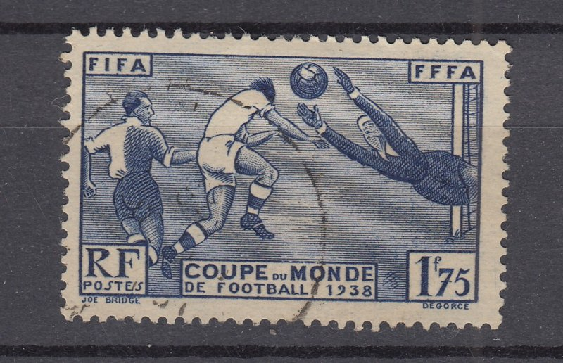 J28918, 1938 france used #349 soccer players