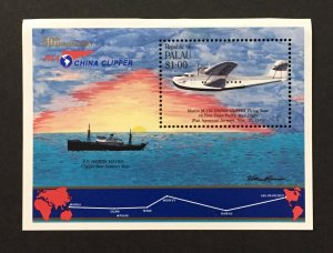 Palau 1985 #94 S/S, Mail Flight, MNH(top bend).