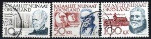 Greenland #242-3, 249 F-VF Used CV $48.00 (X4179)