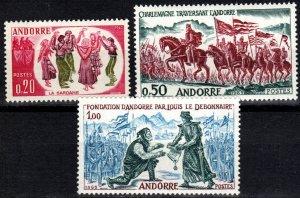 Andorra (Fr) #155-7  MNH CV $27.50  (X2534)